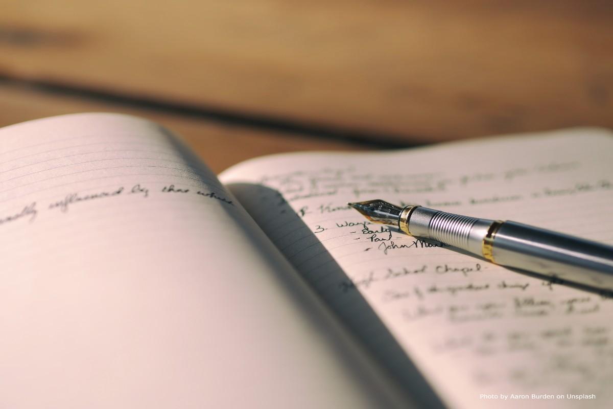 Journal writing, pen